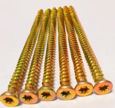 Betonový šroub torx pozi 6 hrotů žlutý zinek hi-lo závit